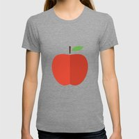 Apple 17 Womens Fitted Tee Tri-Grey SMALL