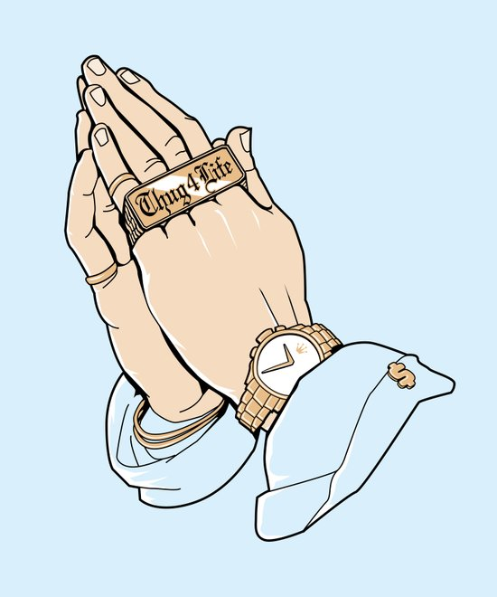 Thug Prayer Art Print