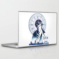 sherlock Laptop & iPad Skins featuring Sherlock by Jackie Sullivan