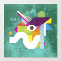 Mythical Float Rate. Canvas Print