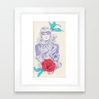 Flowery 02 Framed Art Print