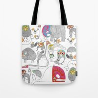 Animales Luchadores Tote Bag