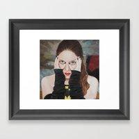 Bat-man • SuperHeroine… Framed Art Print
