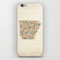 Arkansas by County iPhone & iPod Skin