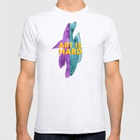 Art Is Hard - Fish Mens Fitted Tee Ash Grey SMALL