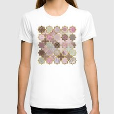 Neapolitan Geometric Til… Womens Fitted Tee White SMALL