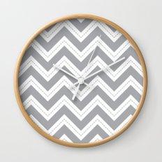 Grey Chevron Wall Clock