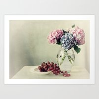Still Life With Hydrange… Art Print