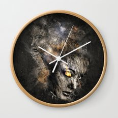 Broken Surface Wall Clock