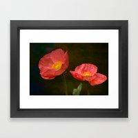 Spring Poppy Framed Art Print