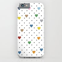 Pin Point Hearts iPhone 6 Slim Case