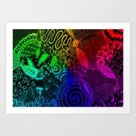 Rainbow Zentangle Art Print
