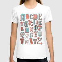 Alphabet Poster Womens Fitted Tee White SMALL