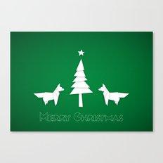 Christmas foxes Canvas Print