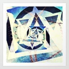Endless triangles Art Print