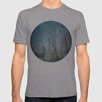 backyard Mens Fitted Tee Athletic Grey SMALL