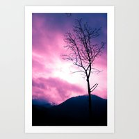 Into The Pink & Purple S… Art Print