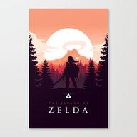 The Legend Of Zelda - Or… Canvas Print