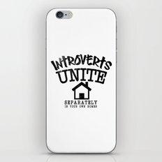 Introverts Unite! iPhone & iPod Skin