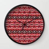 Montana Stripe - Cherry Wall Clock