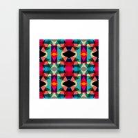 Tribal Red Triangles Framed Art Print