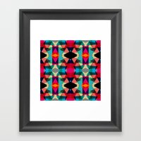 Tribal Red Triangles Framed Art Print