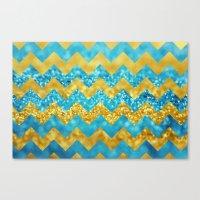 Blueberry Twist Chevron Canvas Print