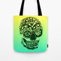 Sugar Skull - Ombre Yell… Tote Bag