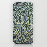 Ab Lines Gold and Navy iPhone 6 Slim Case