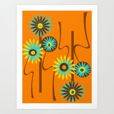 Mod Flowers Alastair Art Print