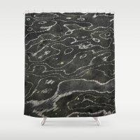 Liquid Marble Shower Curtain