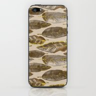 Gold Feather Pattern iPhone & iPod Skin