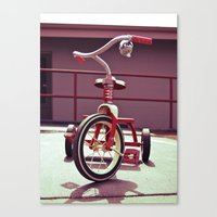 Tricycle Americana Canvas Print