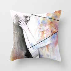 two different lights Throw Pillow