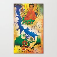 Sun Wukong Confronts Buddha Canvas Print