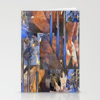 Blue Water &  Golden Lea… Stationery Cards