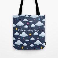 I Love Rainy Days Tote Bag