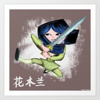 Mulan 2 Art Print