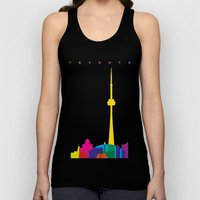 Shapes of Toronto. Accurate to scale Unisex Tank Top