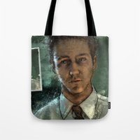 With insomnia, nothing's real. Everything's far away. Everything's a copy of a copy of a copy... Tote Bag