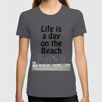 Beach Life Womens Fitted Tee Asphalt SMALL