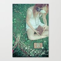 A Good Book Canvas Print