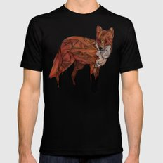 Red Fox Mens Fitted Tee Black SMALL