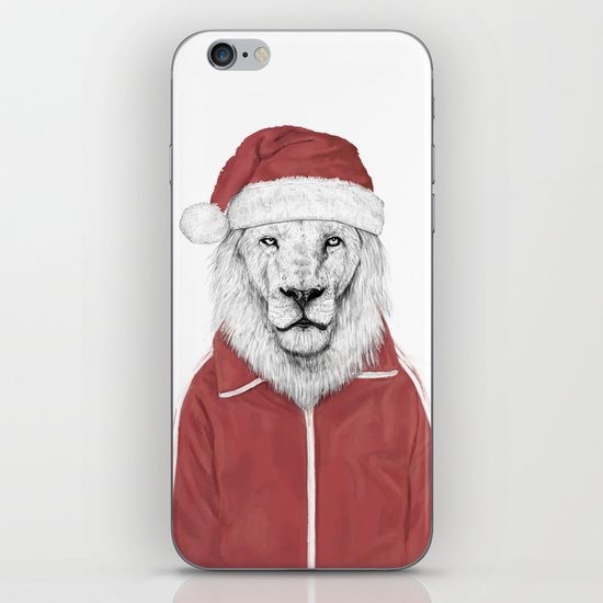 Santa lion iPhone & iPod Skin