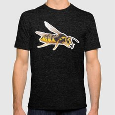 Wasp by Lars Furtwaengler | Colored Pencil / Pastel Pencil | 2011 Mens Fitted Tee Tri-Black SMALL
