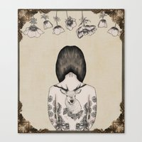 something flowery  Canvas Print