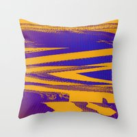Digital Died/Mustard Jam Throw Pillow