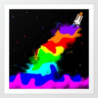 Launch To Space  Art Print
