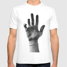 Working Hands (I Dye) Mens Fitted Tee White SMALL