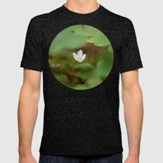 Wood Sorrel  Mens Fitted Tee Tri-Black SMALL